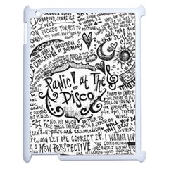 Panic! At The Disco Lyric Quotes Apple Ipad 2 Case (white) by Onesevenart