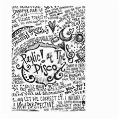 Panic! At The Disco Lyric Quotes Large Garden Flag (two Sides) by Onesevenart