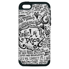 Panic! At The Disco Lyric Quotes Apple Iphone 5 Hardshell Case (pc+silicone) by Onesevenart