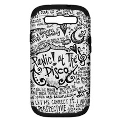 Panic! At The Disco Lyric Quotes Samsung Galaxy S Iii Hardshell Case (pc+silicone) by Onesevenart