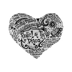 Panic! At The Disco Lyric Quotes Standard 16  Premium Heart Shape Cushions by Onesevenart