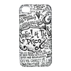 Panic! At The Disco Lyric Quotes Apple Iphone 4/4s Hardshell Case With Stand by Onesevenart