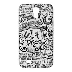 Panic! At The Disco Lyric Quotes Samsung Galaxy Mega 6 3  I9200 Hardshell Case by Onesevenart