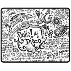 Panic! At The Disco Lyric Quotes Double Sided Fleece Blanket (medium)  by Onesevenart