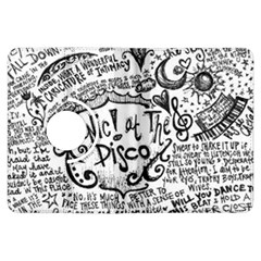 Panic! At The Disco Lyric Quotes Kindle Fire Hdx Flip 360 Case by Onesevenart