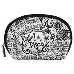 Panic! At The Disco Lyric Quotes Accessory Pouches (large)  by Onesevenart