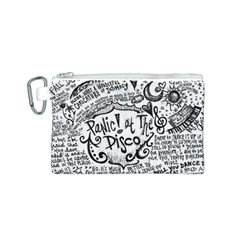 Panic! At The Disco Lyric Quotes Canvas Cosmetic Bag (s) by Onesevenart