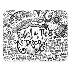 Panic! At The Disco Lyric Quotes Double Sided Flano Blanket (large)  by Onesevenart