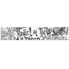 Panic! At The Disco Lyric Quotes Flano Scarf (large) by Onesevenart