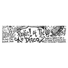 Panic! At The Disco Lyric Quotes Satin Scarf (oblong) by Onesevenart