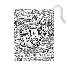 Panic! At The Disco Lyric Quotes Drawstring Pouches (extra Large) by Onesevenart