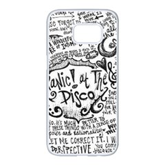 Panic! At The Disco Lyric Quotes Samsung Galaxy S7 Edge White Seamless Case by Onesevenart