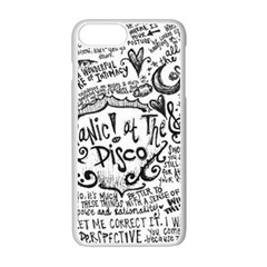 Panic! At The Disco Lyric Quotes Apple Iphone 7 Plus White Seamless Case by Onesevenart
