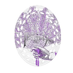 Panic At The Disco Oval Filigree Ornament (two Sides) by Onesevenart