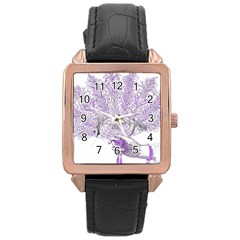 Panic At The Disco Rose Gold Leather Watch  by Onesevenart