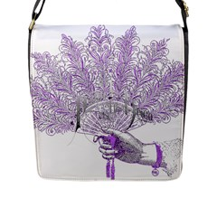 Panic At The Disco Flap Messenger Bag (l)  by Onesevenart
