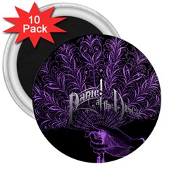 Panic At The Disco 3  Magnets (10 Pack)  by Onesevenart
