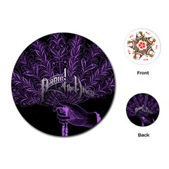 Panic At The Disco Playing Cards (round)  by Onesevenart