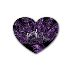 Panic At The Disco Rubber Coaster (heart)  by Onesevenart