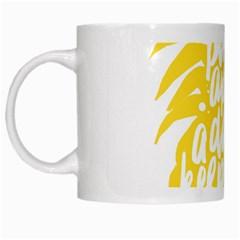 Cute Pineapple Yellow Fruite White Mugs by Mariart