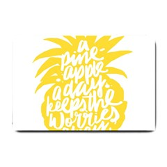 Cute Pineapple Yellow Fruite Small Doormat  by Mariart
