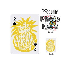 Cute Pineapple Yellow Fruite Playing Cards 54 (mini)  by Mariart