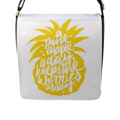Cute Pineapple Yellow Fruite Flap Messenger Bag (l)  by Mariart