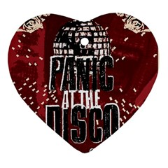Panic At The Disco Poster Ornament (heart) by Onesevenart