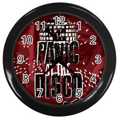 Panic At The Disco Poster Wall Clocks (black) by Onesevenart