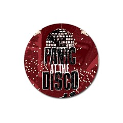 Panic At The Disco Poster Magnet 3  (round) by Onesevenart