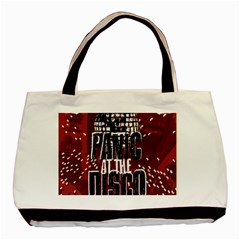 Panic At The Disco Poster Basic Tote Bag (two Sides) by Onesevenart