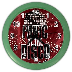 Panic At The Disco Poster Color Wall Clocks by Onesevenart