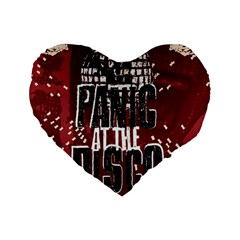 Panic At The Disco Poster Standard 16  Premium Heart Shape Cushions by Onesevenart