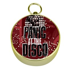 Panic At The Disco Poster Gold Compasses by Onesevenart