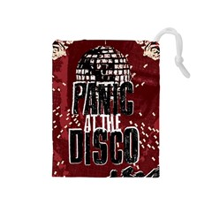 Panic At The Disco Poster Drawstring Pouches (medium)  by Onesevenart