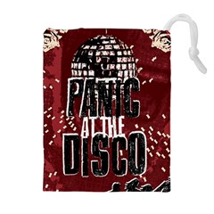 Panic At The Disco Poster Drawstring Pouches (extra Large) by Onesevenart