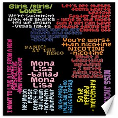 Panic At The Disco Northern Downpour Lyrics Metrolyrics Canvas 16  X 16   by Onesevenart
