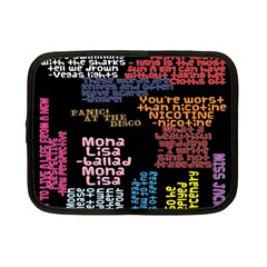 Panic At The Disco Northern Downpour Lyrics Metrolyrics Netbook Case (small)  by Onesevenart