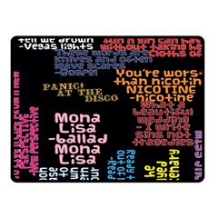 Panic At The Disco Northern Downpour Lyrics Metrolyrics Fleece Blanket (small) by Onesevenart