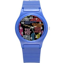 Panic At The Disco Northern Downpour Lyrics Metrolyrics Round Plastic Sport Watch (s) by Onesevenart