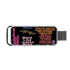 Panic At The Disco Northern Downpour Lyrics Metrolyrics Portable Usb Flash (one Side) by Onesevenart