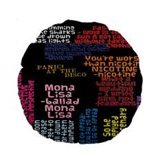 Panic At The Disco Northern Downpour Lyrics Metrolyrics Standard 15  Premium Round Cushions by Onesevenart