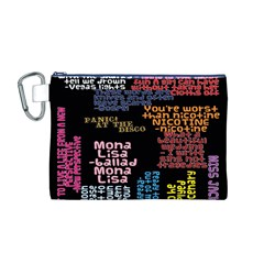Panic At The Disco Northern Downpour Lyrics Metrolyrics Canvas Cosmetic Bag (m) by Onesevenart