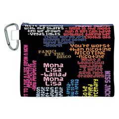 Panic At The Disco Northern Downpour Lyrics Metrolyrics Canvas Cosmetic Bag (xxl) by Onesevenart