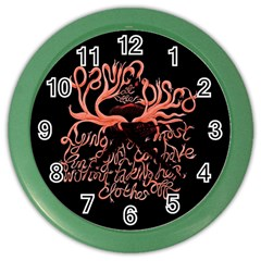 Panic At The Disco   Lying Is The Most Fun A Girl Have Without Taking Her Clothes Color Wall Clocks by Onesevenart