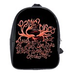 Panic At The Disco   Lying Is The Most Fun A Girl Have Without Taking Her Clothes School Bag (Large)