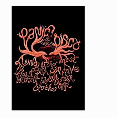 Panic At The Disco   Lying Is The Most Fun A Girl Have Without Taking Her Clothes Large Garden Flag (two Sides) by Onesevenart