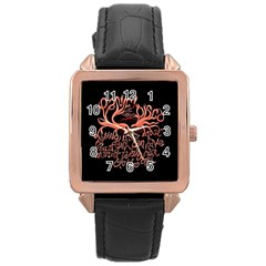 Panic At The Disco   Lying Is The Most Fun A Girl Have Without Taking Her Clothes Rose Gold Leather Watch  by Onesevenart
