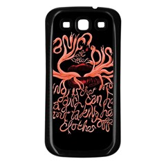 Panic At The Disco   Lying Is The Most Fun A Girl Have Without Taking Her Clothes Samsung Galaxy S3 Back Case (black) by Onesevenart