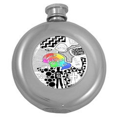 Panic ! At The Disco Round Hip Flask (5 Oz) by Onesevenart